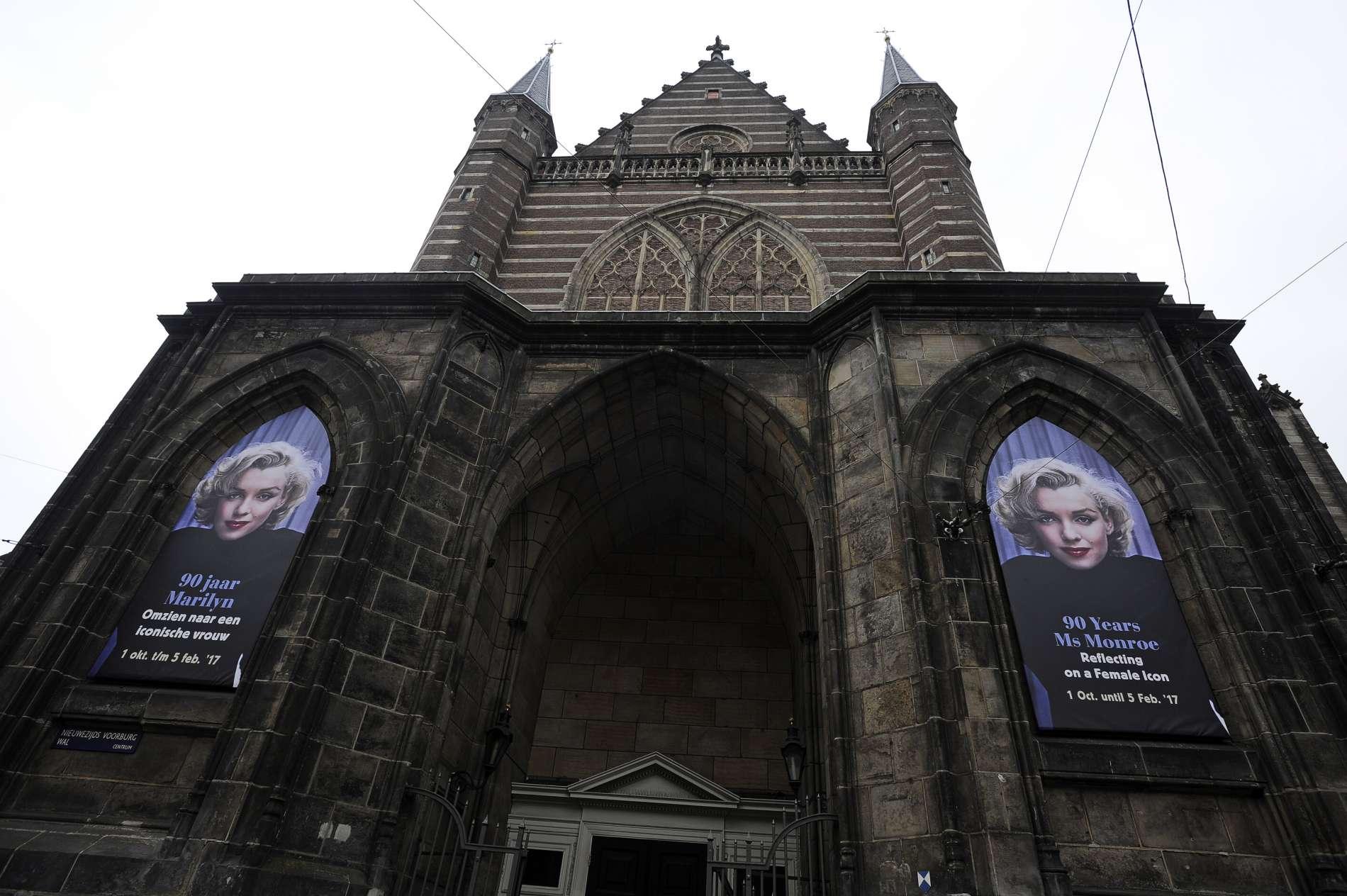 Marilyn Monroe in de Nieuwe Kerk, Amsterdam