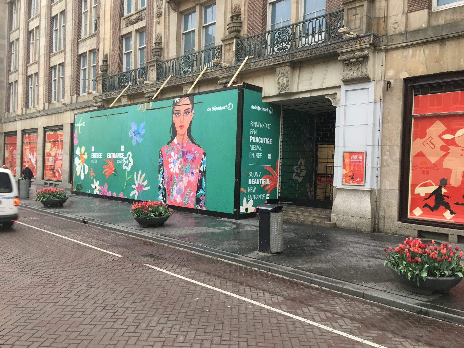 Bijenkorf, Amsterdam | Buitenhoarding Damrakzijde