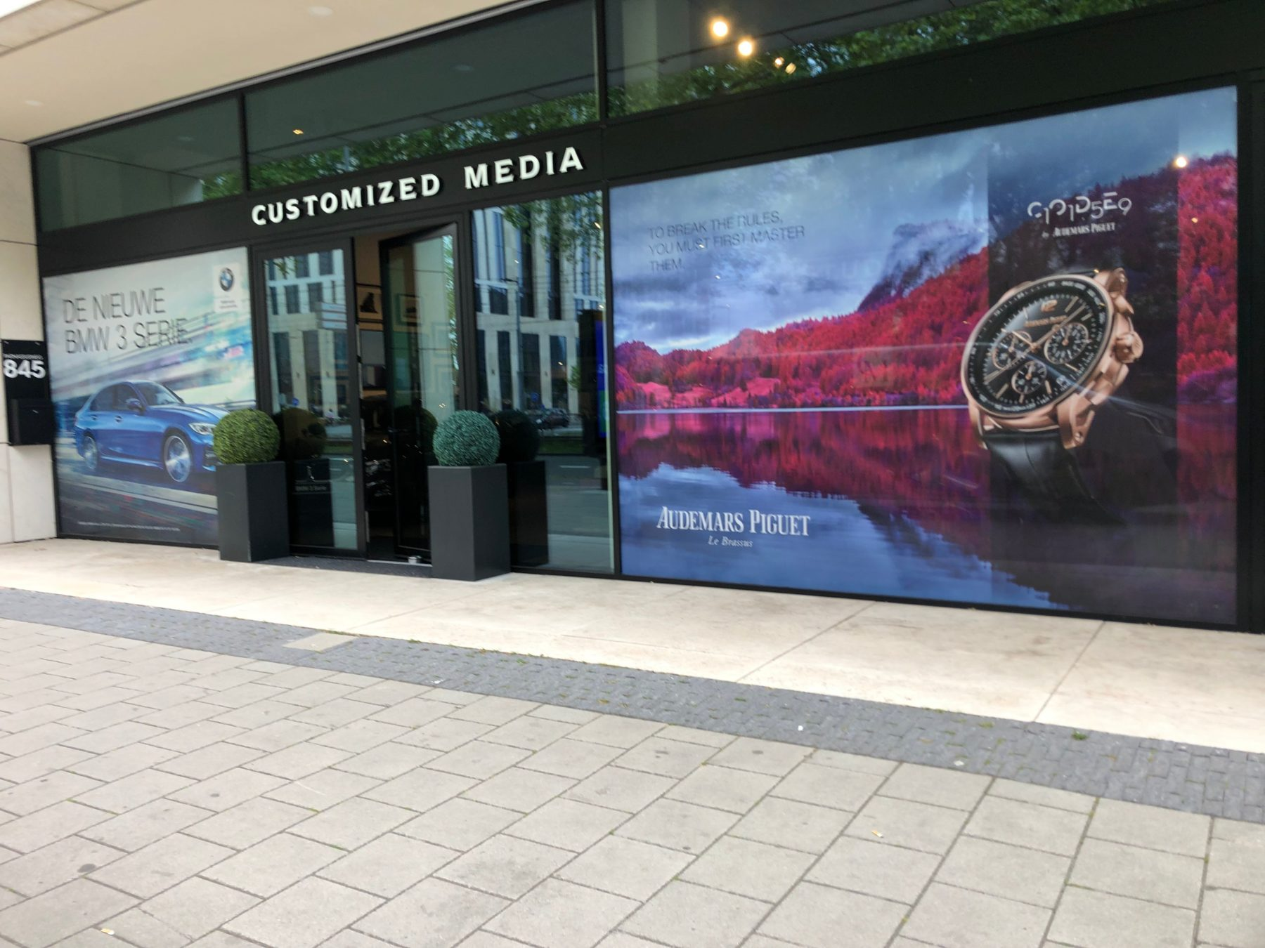 Customized Media, Zuidas Amsterdam – Window visuals